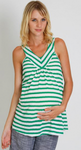 Everly Grey Striped Maternity Tank