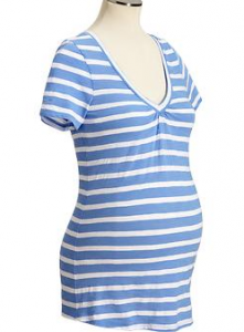 Maternity Slub-Knit V-neck