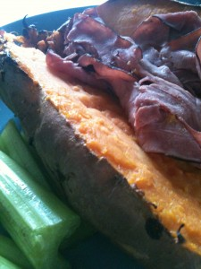 sweet potato and roast beef