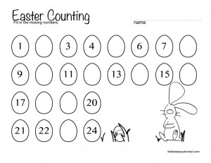 easter counting worksheet
