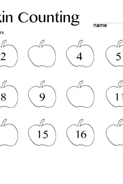 Pumpkin Counting – Free Printable