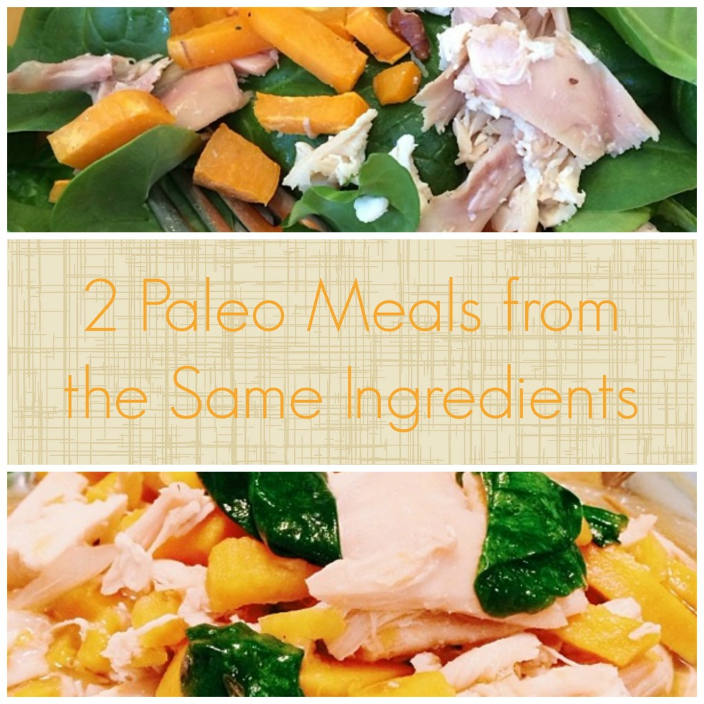 2 paleo meals from the same ingredients