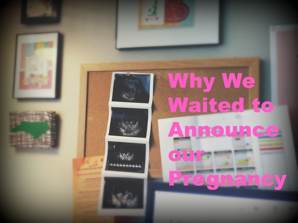 waiting to annouce pregnancy