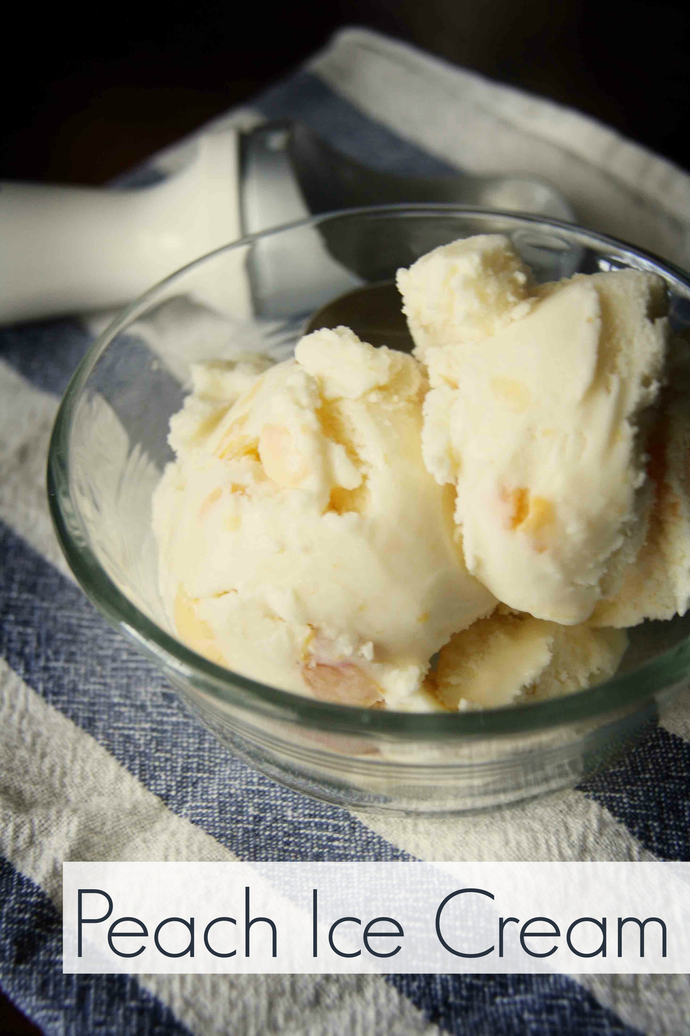 homemade peach ice cream