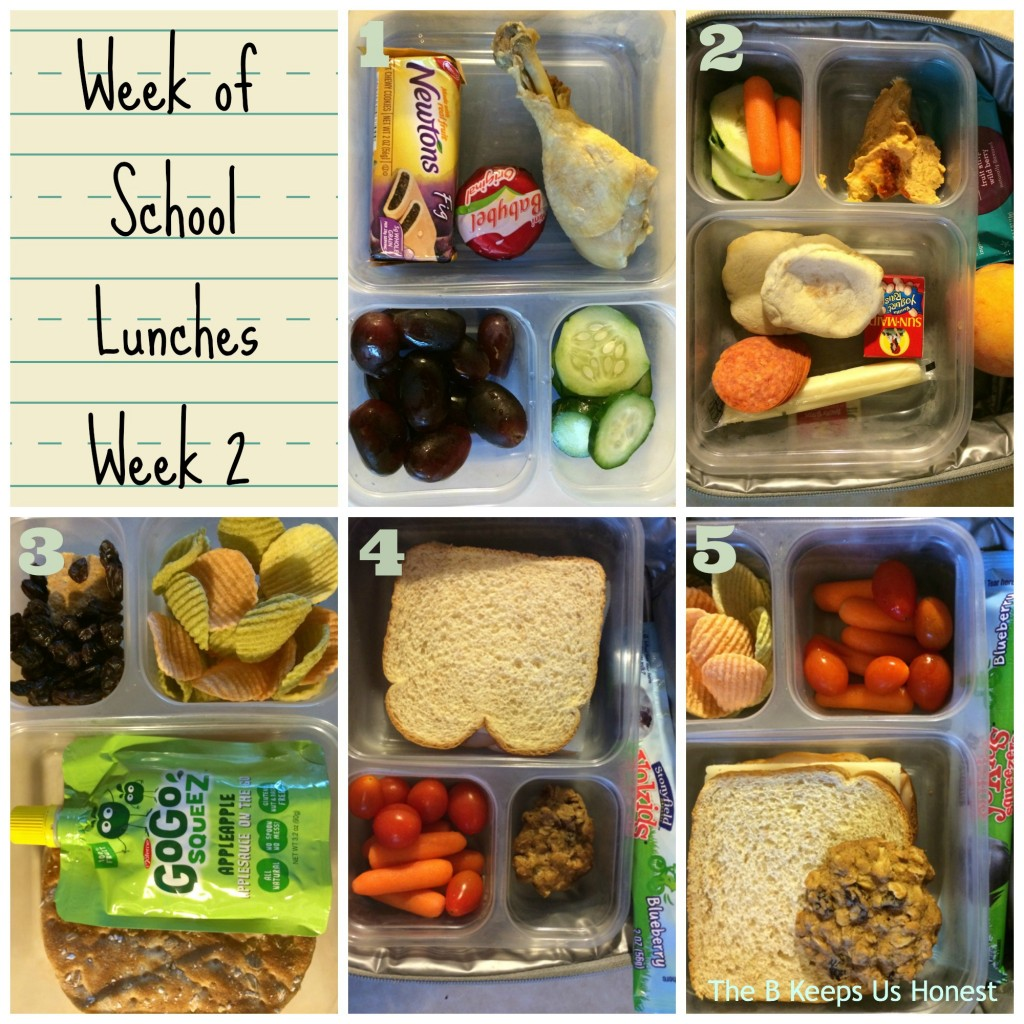 school lunches week 2