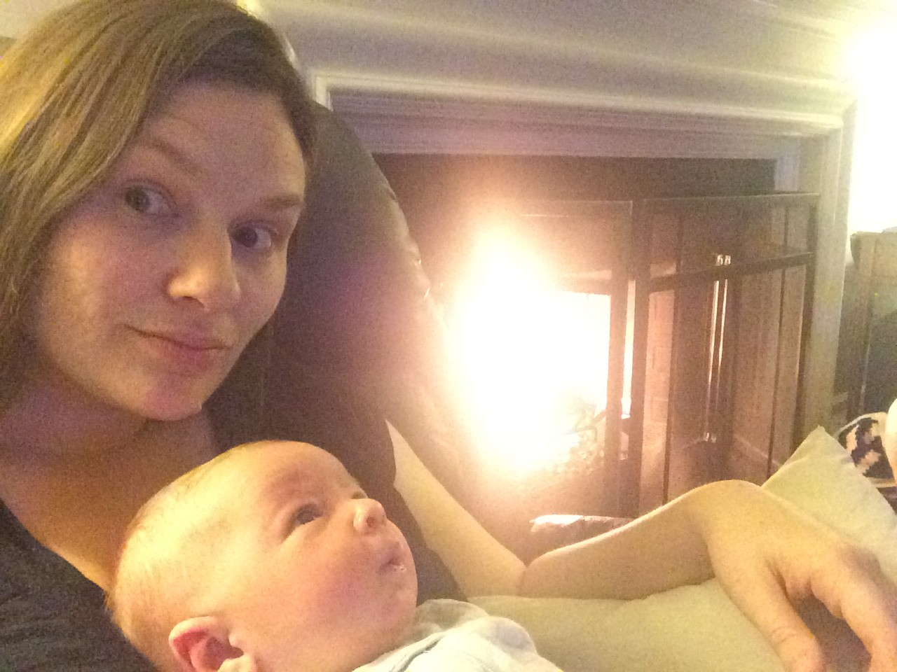 mama and abel by the fire