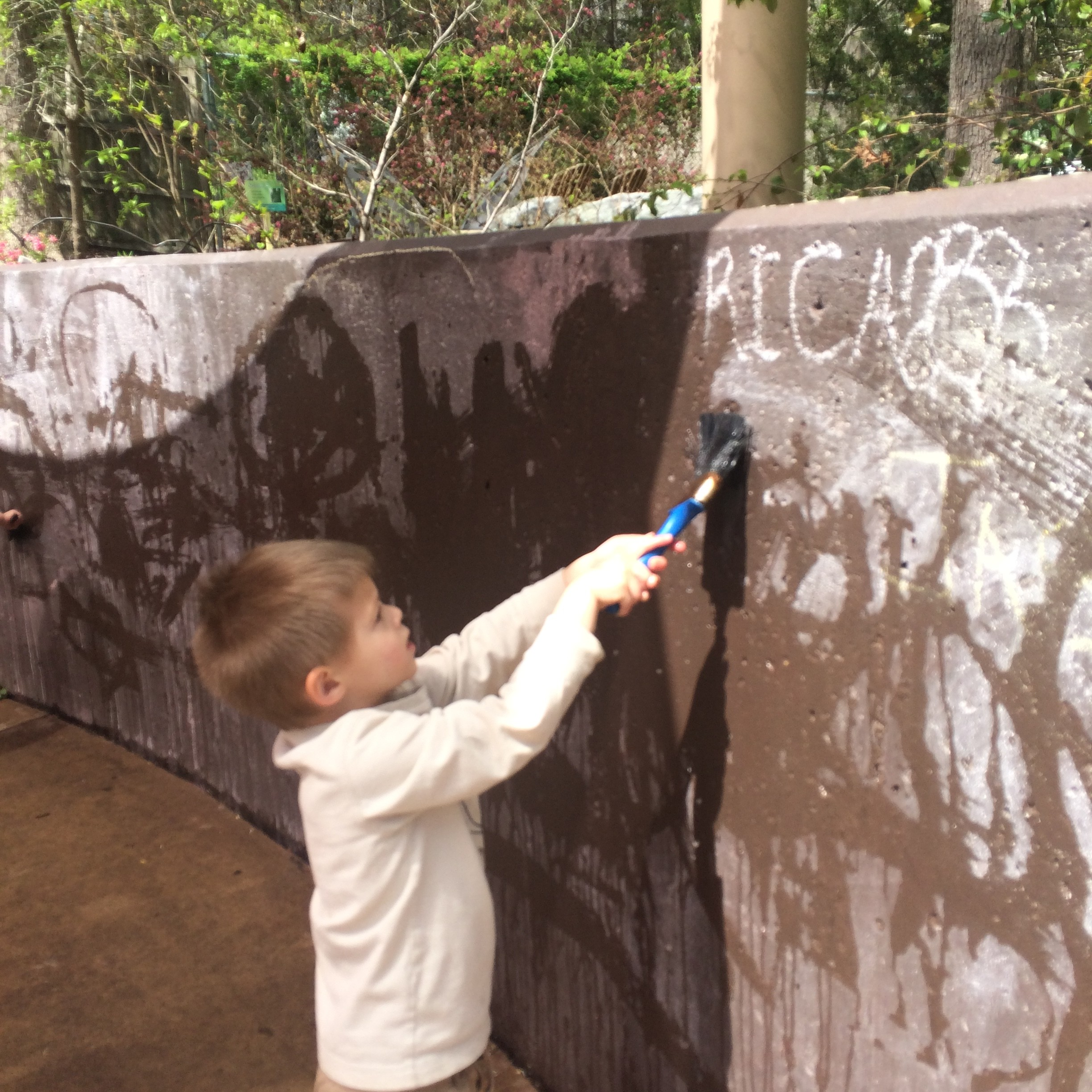 painting the walls with water